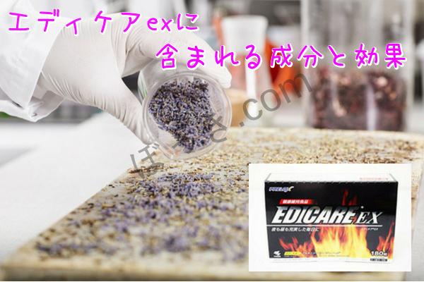 エディケアexに含まれる成分と効果